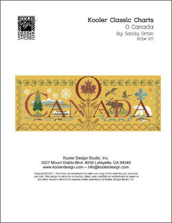 Kooler Design Studios O Canada cross stitch pattern