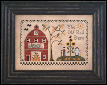 Little House Old Red Barn LHN131 cross stitch pattern