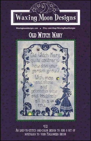 Waxing Moon Designs Old Witch Mary cross stitch pattern
