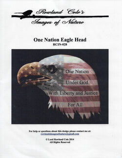 Rowland Cole's Images of Nature One Nation Eagle Head RCIN-028 cross stitch pattern
