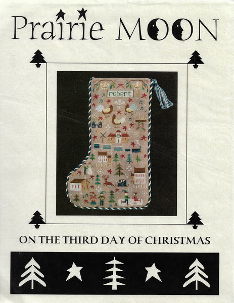 Prairie Moon On the third day of christmas cross stitch pattern