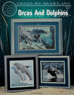 Cross My Heart Orcas and Dolphins cross stitch pattern