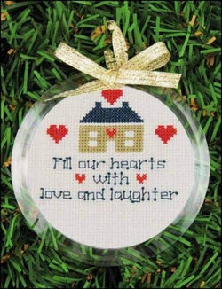 Yarn Tree 3 inch round snap in christmas ornament frame clear acrylic