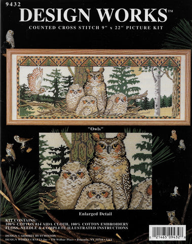 Design Works Owls 9432 cross stitch patten