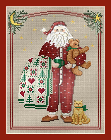 Sue Hillis Pajama Santa L233 cross stitch pattern