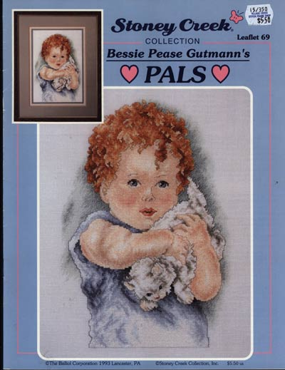 Stoney Creek Bessie Pease Gtmanns Pals LFT69 cross stitch pattern