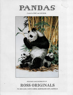 Ross Originals Panda cross stitch pattern