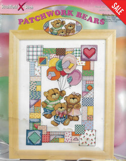 StitchWorld X-Stitch Patchwork Bears cross stitch pattern