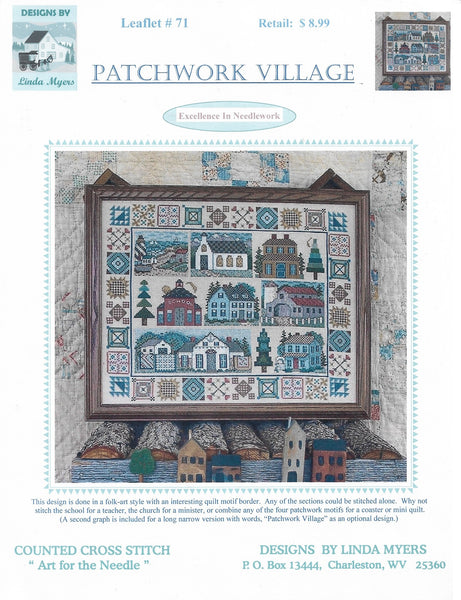 Linda Myers Patchwork Village Amish cross stitch pattern