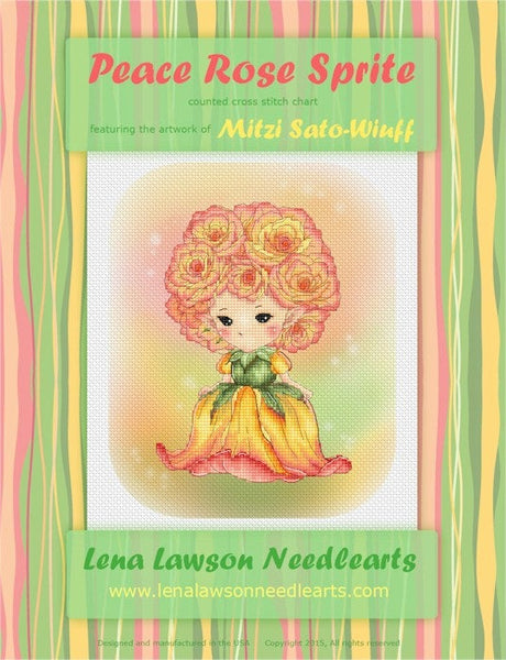 Lena Lawson Peace Rose Sprite cross stitch pattern