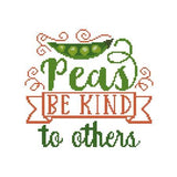 Peas Be Kind to Others pattern