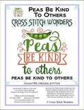 Cross Stitch Wonders Carolyn Manning Peas Be kind To Others Cross stitch pattern