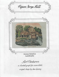 Art Ventures Pigeon Forge Mill Tennessee landmark cross stitch pattern