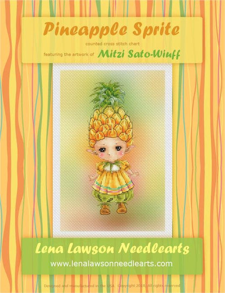 Lena Lawson Pineapple Sprite cross stitch pattern