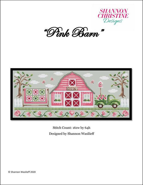 Shannon Christine Pink Barn cross stitch pattern