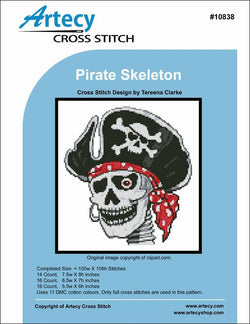 Artecy Pirate Skeleton cross stitch pattern