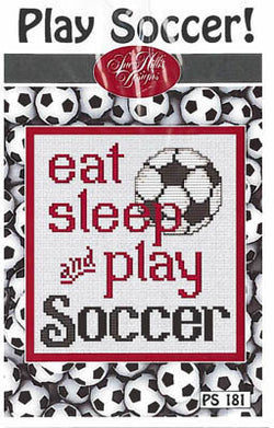 Sue Hillis Playy Soccer PS181 cross stitch pattern