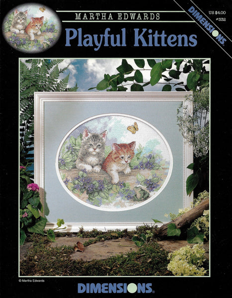 Dimensions Playful Kittens 332 cross stitch pattern