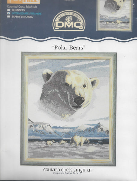 DMC Polar Bears cross stitch kit