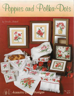 Jeanette Crews Poppies and Polka Dots cross stitch pattern