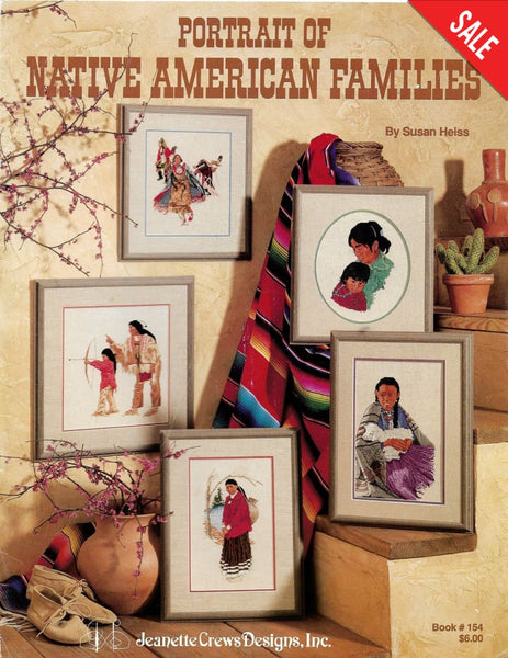 Portrait of Native American Families pattern