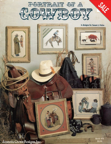 Jeanette Crews Portrait of a Cowboy 76 cross stitch pattern