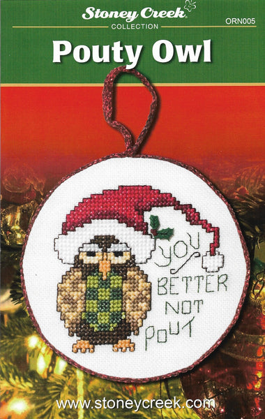 Stoney Creek Pouty Owl ORN005 christmas ornament cross stitch booklet