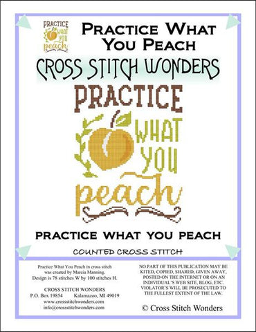Cross Stitch Wonders Carolyn Manning Practice What You Peach Cross stitch pattern
