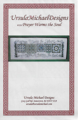 Ursula Michael Designs Prayer warms the soul quilt cross stitch pattern