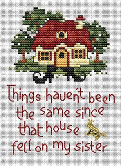Sue Hillis Witch's Fate Wizard of Oz cross stitch pattern