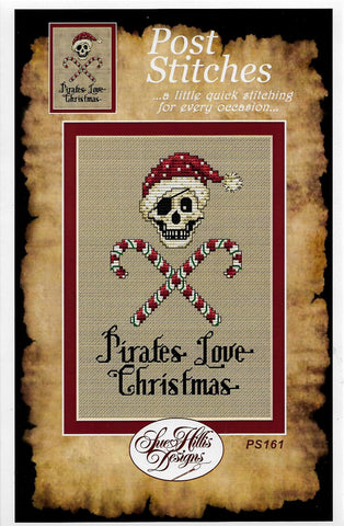 Sue Hillis Candy Cane Pirate PS161 Christmas cross stitch pattern