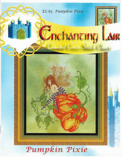 Enchanting Lair Pumpkin Pixie EL-83 fantasy cross stitch pattern
