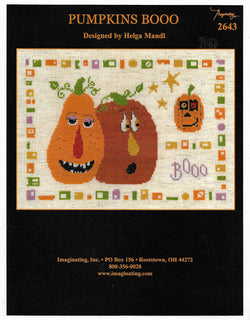 Imaginating Pumpkins Booo 2643 Halloween cross stitch pattern