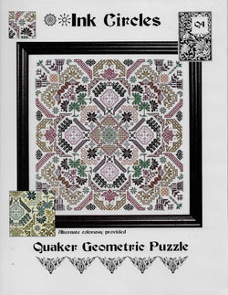 Ink Circles Quaker Geometric Puzzle cross stitch pattern