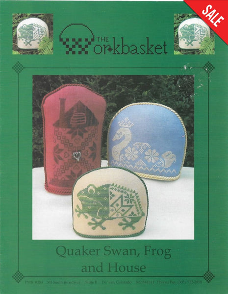 Workbasket Quaker Swan, Frog and House cross stitch pattern