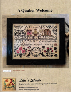 Lila's Studio A Quaker Welcome cross stitch pattern