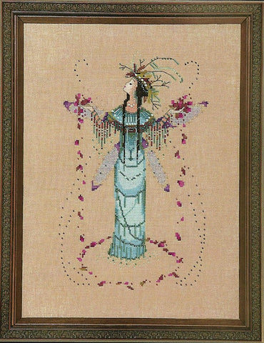 Mirabilia The Rain Queen NC214 Black Forest Pixies victorian cross stitch