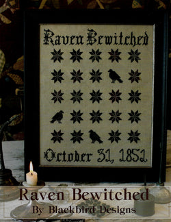 Blackbird Raven Bewitched cross stitch pattern