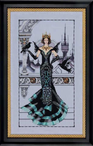 Mirabilia Raven Queen Nora Corbett MD139 cross stitch pattern