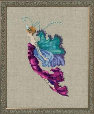 Mirabilia Red Cabbage Sprite NC255 Autumn pixies cross stitch pattern