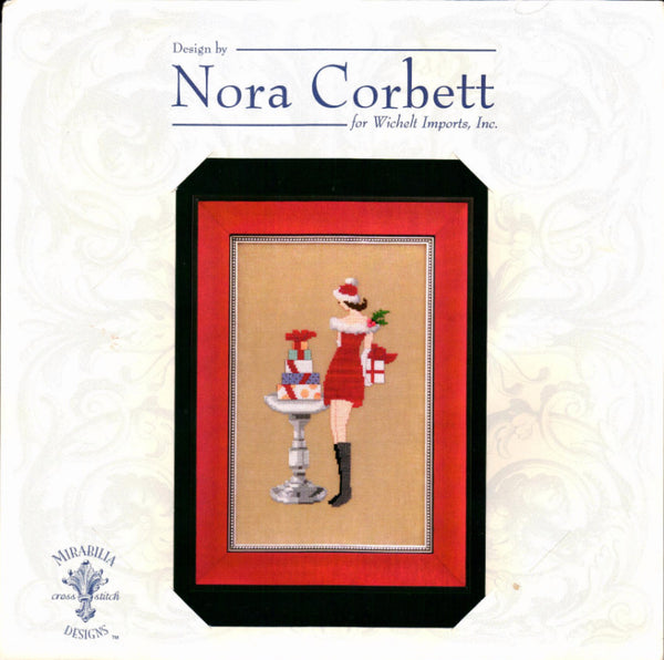 Nora Corbett Red Dress Gifts NC171 christmas cross stitch pattern