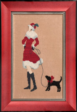 Nora Corbett Red Puppy NC175 cross stitch pattern