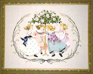 Mirabilia Ring around the rose tree MD-76 victorian cross stitch