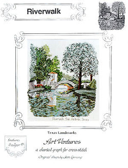 Art Ventures River Walk San Antonio Texas cross stitch pattern