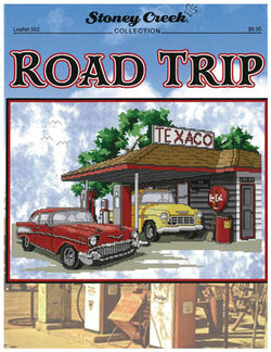 Stoney Creek Road Trip LFT502 automobile cross stitch pattern