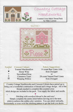Little House Needleworks Rose cross stitch pattern