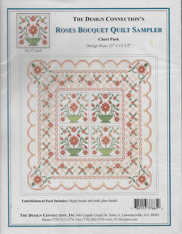 Design Connection Roses Boquet quilt sampler cross sttch pattern