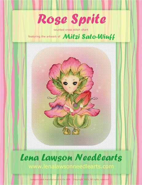 Lena Lawson Rose Sprite cross stitch pattern