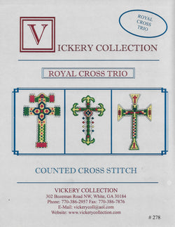 Vickery Collections Royal Cross Trio cross stitch pattern