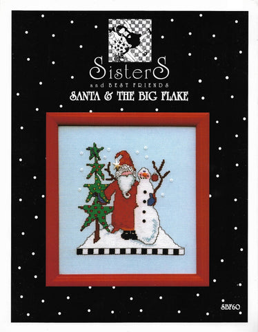 Sisters and Best Friends! Santa & The Big Flake Christmas cross stitch pattern